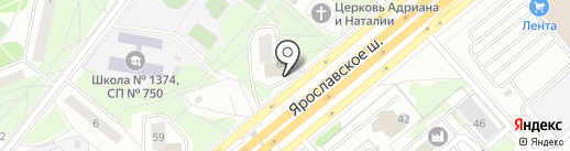 Пловная №1 на карте Москвы