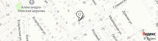 Роза Ветров на карте Новороссийска