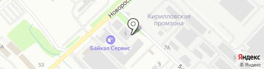 Югстройторг на карте Новороссийска