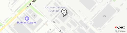 Стар строй на карте Новороссийска