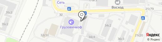 Принтньюком на карте Москвы