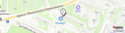 Магнит на карте Видного