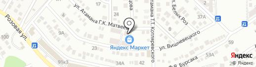Белые Росы на карте Новороссийска