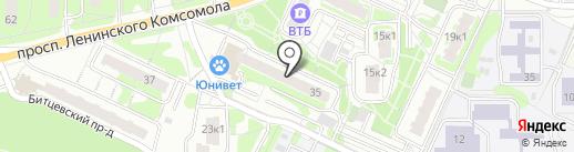 Куриный дом на карте Видного
