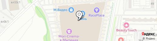 Даджет на карте Мытищ