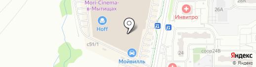 Визор на карте Мытищ