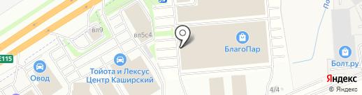 ХАМЕЛЕОН на карте Москвы