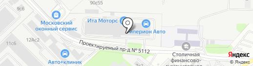 Росзнак на карте Москвы