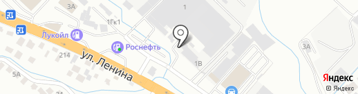 Автомойка на карте Новороссийска