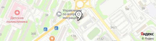 Пожарная часть №28 на карте Видного