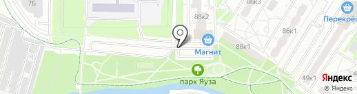 Гаражстрой на карте Мытищ