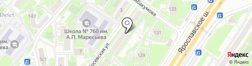 Василек на карте Москвы