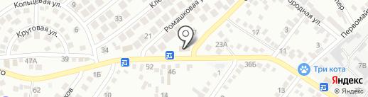 Продовольственный магазин на карте Новороссийска