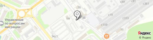 Автостоянка на карте Видного
