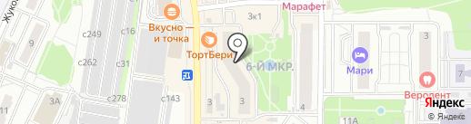 Берлога на карте Видного