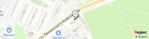 Банкомат, Банк Возрождение, ПАО на карте Видного