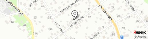 Черная метка на карте Новороссийска