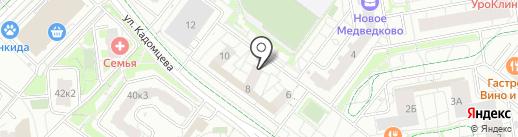 Новое Медведково на карте Мытищ