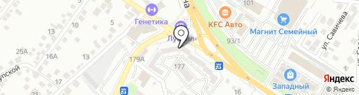 Авангард на карте Новороссийска