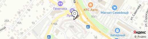 Магазин цветов на карте Новороссийска