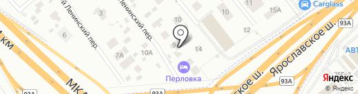 Perlovka guest house на карте Мытищ