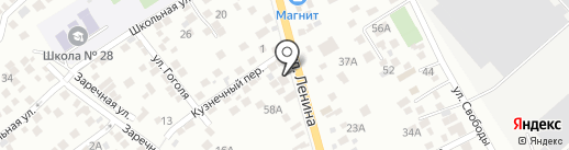 Армейский магазин на карте Новороссийска
