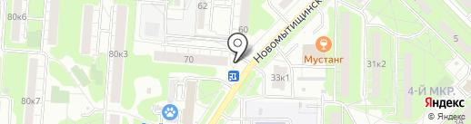 Магазин кондитерских изделий на карте Мытищ