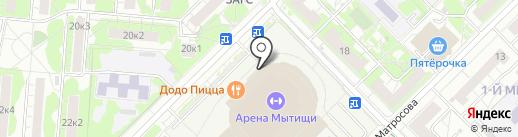 Леонспорт на карте Мытищ