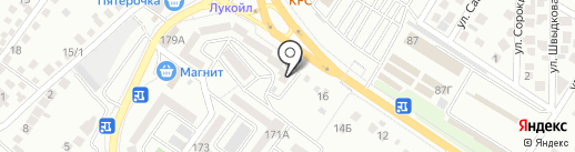 Золотые ножницы на карте Новороссийска