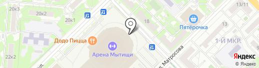 Банкомат, Газпромбанк на карте Мытищ