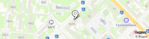 Э7 на карте Мытищ