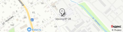 Средняя общеобразовательная школа №28 на карте Новороссийска