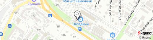 Садкубань на карте Новороссийска