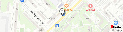 Московский комсомолец на карте Мытищ