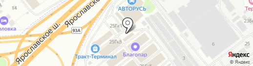 Магазин лакокрасочных материалов на карте Мытищ