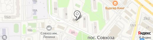 Почтовое отделение №142715 на карте Совхоза имени Ленина