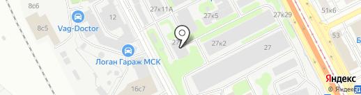 ТРИБО-АЭРО на карте Москвы
