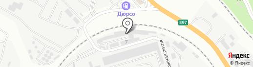 Служба по ремонту и обслуживанию грузового автотранспорта на карте Новороссийска