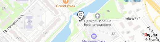 Часовня Блаженной Матроны Московской на карте Мытищ