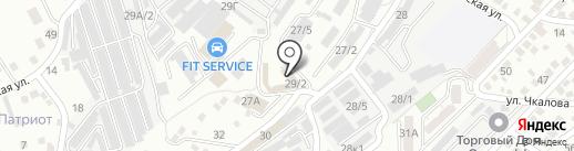Спарта-Сервис на карте Новороссийска