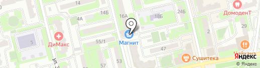 Магнит на карте Домодедово