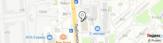 АЛИ на карте Москвы