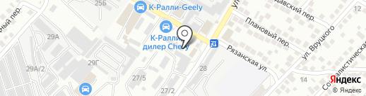 Золотник на карте Новороссийска