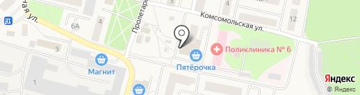 Магазин одежды и обуви на карте Пирогово