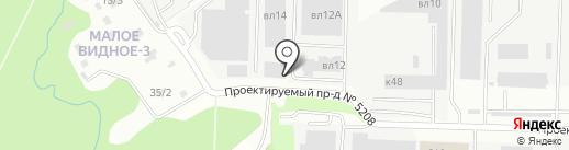 Рутуш на карте Видного