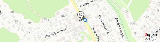 Изумруд на карте Новороссийска