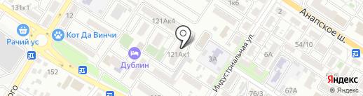 Меридиан на карте Новороссийска