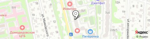 Вектор Права на карте Домодедово