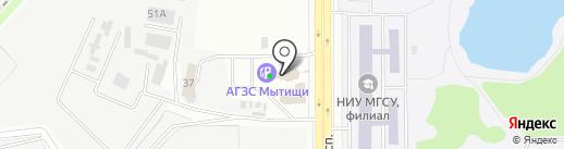 Автоблеск на карте Мытищ