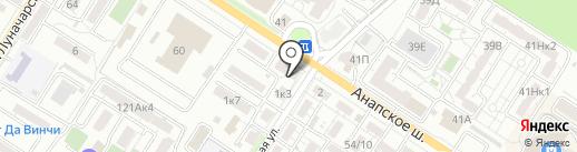 Велена на карте Новороссийска
